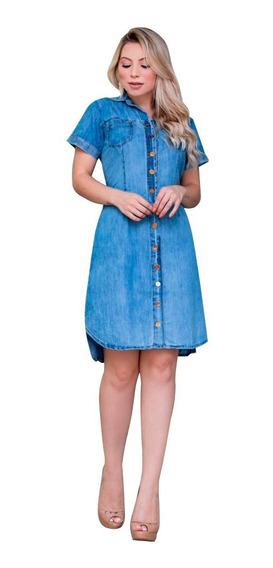 Vestidos Jeans- Roupas Femininas Com Estilo (ref-1020c)