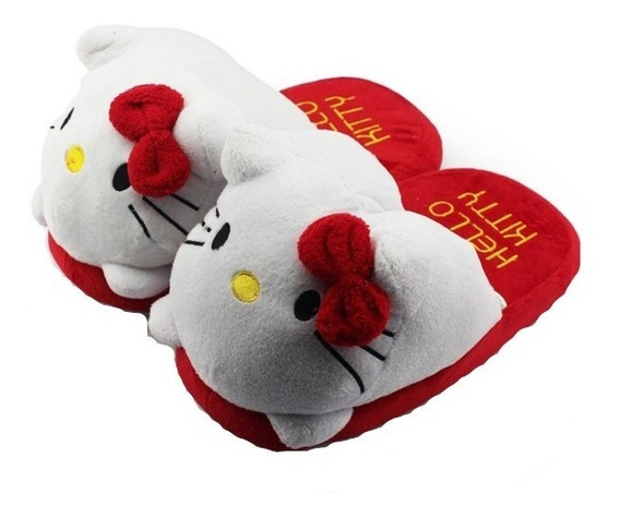 Hello Kitty Pantuflas Gato Cute Kawaii Mujer Niña Cat E Grat