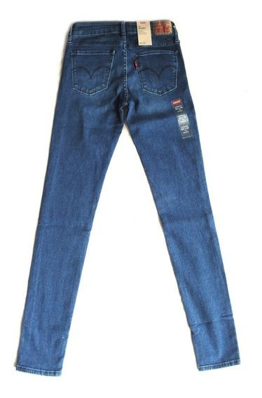 Calça Levis Jeans Feminina 711 Skinny Azul Escuro 0008