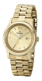 Relógio De Luxo Champion Dourado Feminino Ch24428w Originall
