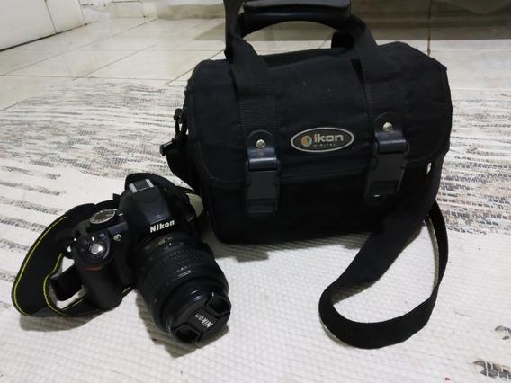 Máquina Fotográfica Dslr Nikon 3100 + Mochila Ikon Digital