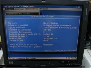 Laptop Hp Tc4200 Funcionando Para Refacciones Completa