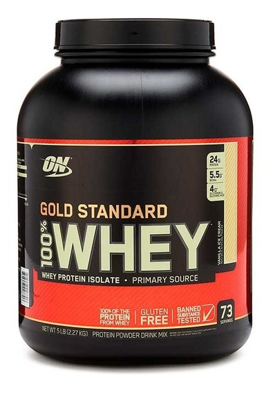 Proteina On 100% Whey Gold Standard 5 Lbs Vainilla