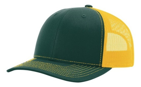 Gorra Richardson 112 Dark Green / Gold