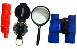 Kit Explorador Galileo Binocular,brujula,lupa,silbato C/est.