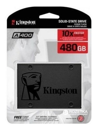 Hd Ssd 480gb Kingston Sata3 Sa400s37/480g Solid State Drive