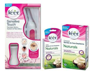 Veet Sensitive + Bandas Dep Corporales + Faciales Naturals
