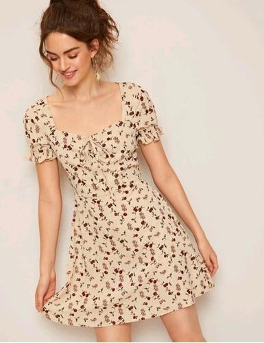 Imagen 1 de 4 de Vestido Estampado Floral Margarita