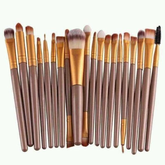 Kit Pincel Maquiagem 20 Pcs Profissional Promoção + Brinde