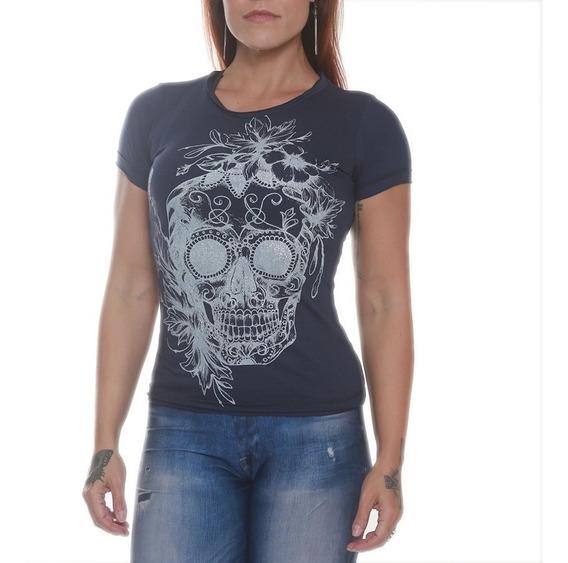 Blusa / Camiseta Feminina Baby Look - Black Skull Clothing