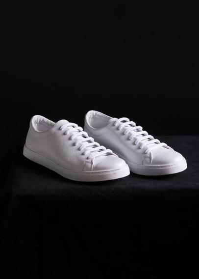 Zapatillas De Cuero Blancas Felipe Quinto