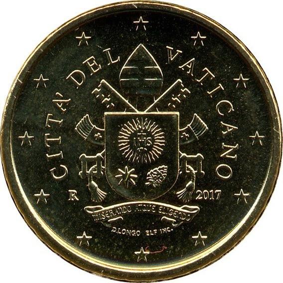 Vaticano 50 Eurocent 2017 R Escudo Papal Francisco I