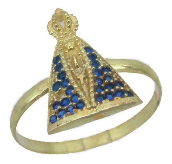 1878 Anel N.s Aparecida Em Ouro 18k 750 Rpw Ro Joias