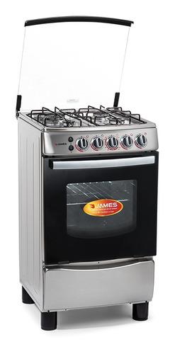 Cocina James C-655 Mi 4 Hornallas Enc Electronico Inoxidable