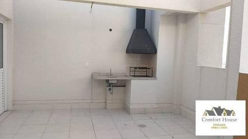 Cobertura Duplex Para Venda Em São Caetano Do Sul, Santa Paula, 2 Dormitórios, 1 Suíte, 2 Banheiros, 3 Vagas - Co0013_co_1-1872402