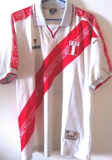 Camisa Perú Usada Em Jogo Eliminatórias Copa 2002