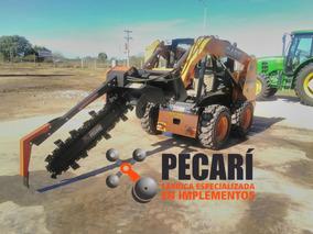 Implemento Zanjador Pecari P/ Minicargadoras