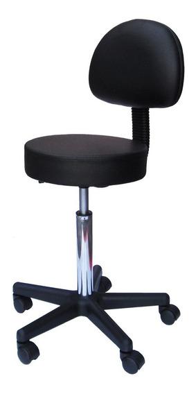 Cadeira Mocho Massagem Consultório Clínica Estética Preto