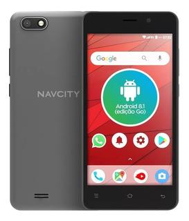 Celular Smartphone Navcity Tela 5 8gb 5mp Android Go Cinza