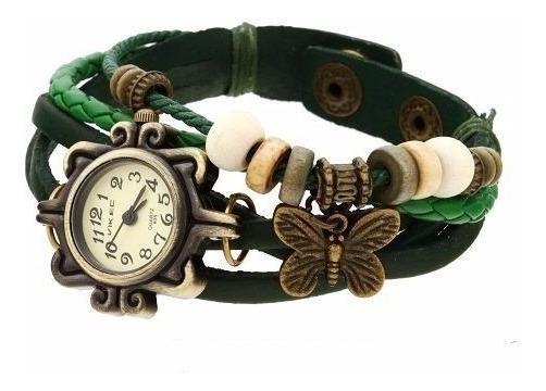 Relógio Unisex C/ Pulseira Em Couro Vd Vintage Ref.62637
