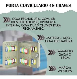 Porta Claviculario 48 Chaves Armario Chaveiros Western
