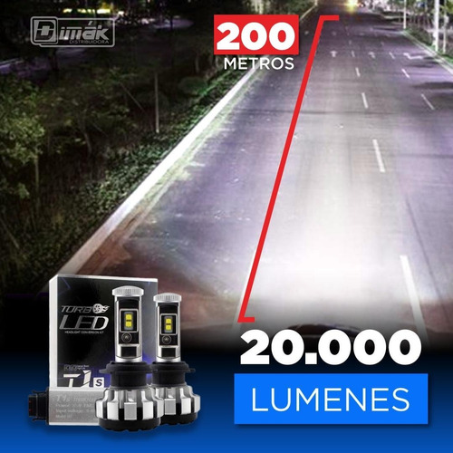Focos Luces Turbo Led Pro  (200 Metros) H4,h13,9005..