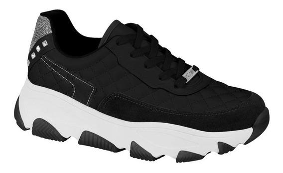 Tenis Chunky Vizzano Plataforma Sneaker Ugly Shoes Preto