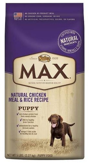 Nutro Max Puppy Food, Natural Chicken Meal And Rice 5 Lbs