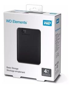 Hd Wd Externo Elements Se 4tb Usb 3.0 / 2.0