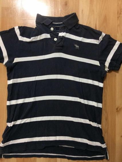 Camisa Polo Abercrombie Azul Marino Talla Xl Adolescente