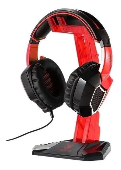Suporte Onikuma Para Fone De Ouvido Headset Gamer Vermelho