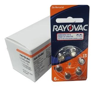 60 Pilas Para Audifono Rayovac Nro. 13 Pr48 1,4v Cinc Aire