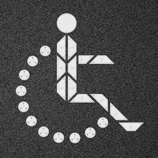 Kit Figura Discapacitado Grande - Punto Y Placa