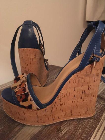 Zapatos Con Plataforma Via Uno. Talle 36