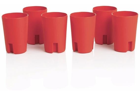 6 Suporte Porta Copo Descartável Quente 200ml Para Café Água