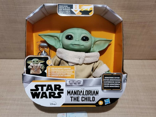 The Child Baby Yoda Animatronic Mandalorian Star Wars Stock