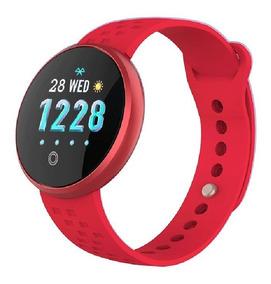 Pulseira Feminina Smartwatch Vermelha B36 Bluetooth + Brinde