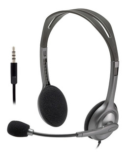 Auriculares Headset Logitech H111 Microfono Skype Miniplug 3.5mm Gtia Oficial Cuotas