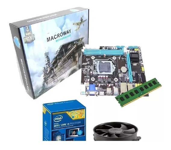 Kit I5 3470 + Placa Intel H61 1155 + 8gb Ddr3 100% Novo