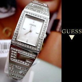 Relógio Guess Feminino Original Prata Cristais Delicado Fino