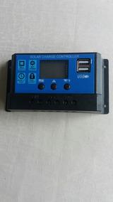 Controlador De Carga Solar Automática 12v 24v 10/20/30/a Pwm