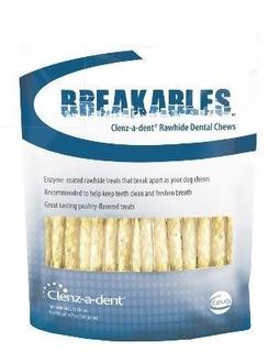 Breakables Clenz-a-dent Cuero Crudo Mastica Dentales, 15ct