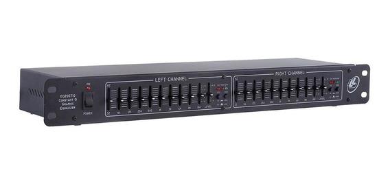 Equalizador 10 Bandas Bivolt Chave Bypass Eq20st10 Ll Áudio