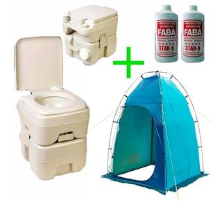 Carpa Waterdog Tent Bath Baño Vestido + Inodoro + 2 Faba