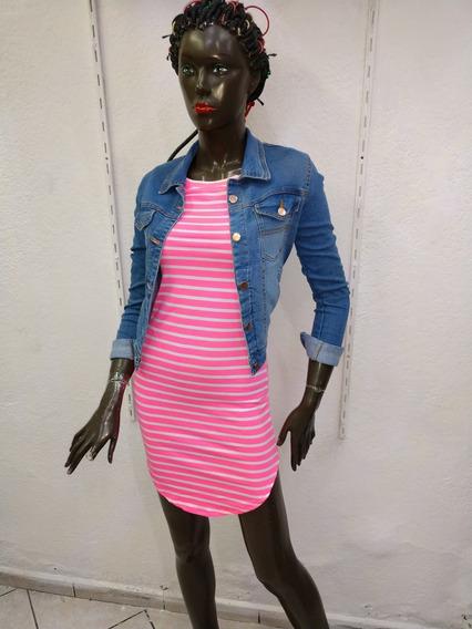 Vestido Bluson Rosa Modelo 80