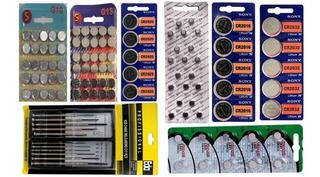 Kit Baterias Pilhas De Relógios + Frete Grátis