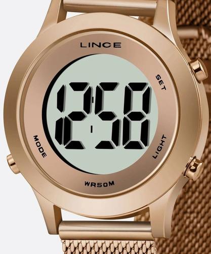 Imagem 1 de 9 de Relógio Feminino Digital Lince Sdph113l Bxrx