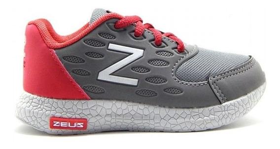 Tênis Zeus Infantil Conforto 422 - Vermelho