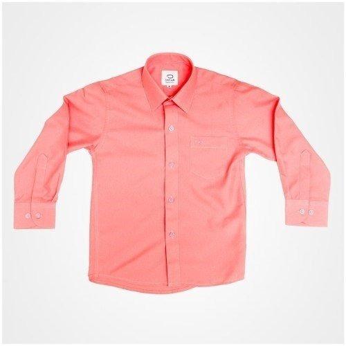 Camisa Manga Larga Vestir Oscar Coral Con Tirantes Y Moño