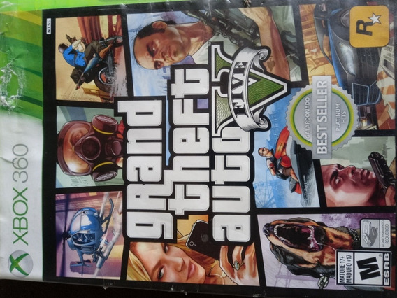 Grand Theft Auto (gta 5)usado Xbox 360 Mídia Física Original
